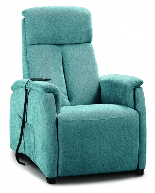 SPAZIO RELAX - Fauteuil Relaxation Asia 72 cm 1 moteur tissu marvel bleu