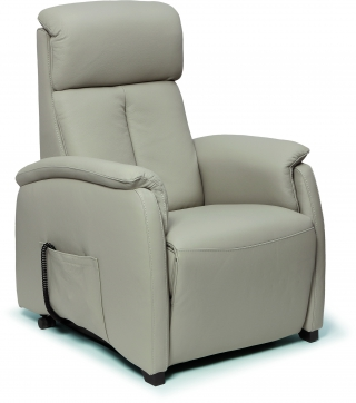 SPAZIO RELAX - Fauteuil Relaxation Asia 83 cm 2 moteurs cuir bull taupe