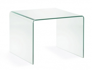 LF - Table d'appoint Burano verre 60 x 60 cm