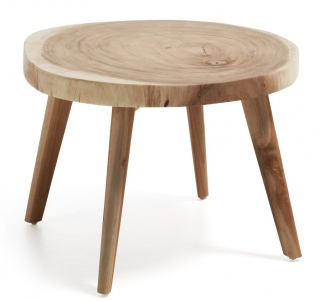 LF - Table d'appoint Creswell bois diametre 65 cm
