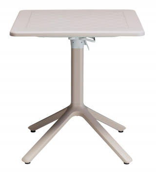 SCAB DESIGN - Table extérieure Table rabattable Eco 70x70 taupe