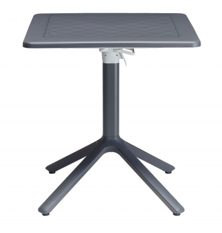 SCAB DESIGN - Table extérieure Table rabattable Eco 70x70 anthracite