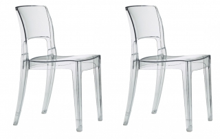 SCAB DESIGN - Chaise Lot de 2 chaises Isy antishock transparent