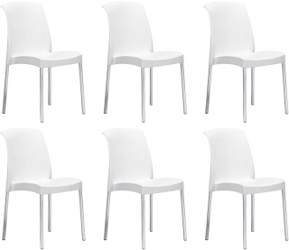 SCAB DESIGN - Chaise Jenny lot de 6 chaises blanc