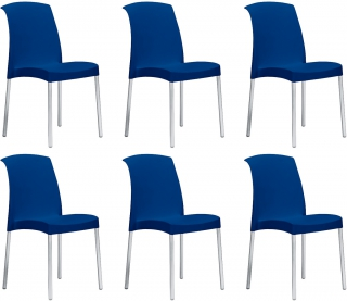 SCAB DESIGN - Chaise Jenny lot de 6 chaises bleu
