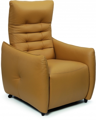 SPAZIO RELAX - Fauteuil Relaxation Jenny 2 moteurs cuir bull senape