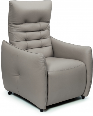 SPAZIO RELAX - Fauteuil Relaxation Jenny 2 moteurs cuir bull taupe