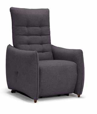 SPAZIO RELAX - Fauteuil Relaxation Jenny 2 moteurs tissu mistral anthracite