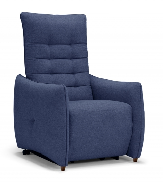 SPAZIO RELAX - Fauteuil Relaxation Jenny 2 moteurs tissu mistral bleu