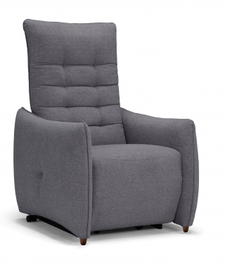 SPAZIO RELAX - Fauteuil Relaxation Jenny 2 moteurs tissu mistral gris