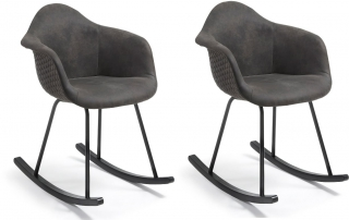 LF - Chaise Lot de 2 fauteuils Kenna à bascule noir