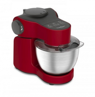 MOULINEX - Robot culinaire Wizzo Rouge 1000 W + Blender