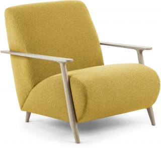 LF - Fauteuil Marthan moutarde