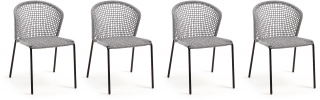 LF - Chaise Lot de 4 chaises Mathew gris