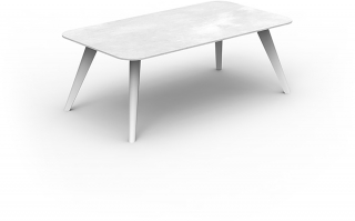 TALENTI - Table basse Moon table basse blanche