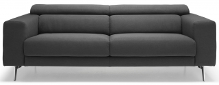ALTEREGO DIVANI - Canapé tissu New York 3 places max anthracite