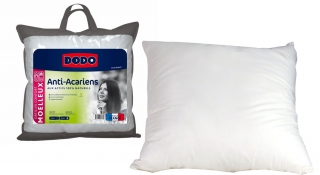 DODO - Oreiller carré Proneem 60x60 anti-acariens naturel