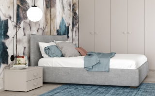 CITY - Sommier 140 x 190 Stoccarda lit coffre 140x190cm Maia 21