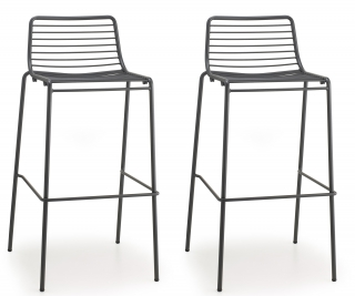 SCAB DESIGN - Tabouret de bar Lot de 2 tabourets Summer anthracite