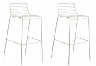SCAB DESIGN - Tabouret de bar Lot de 2 tabourets Summer blanc