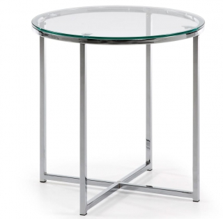 LF - Table d'appoint Vivid verre trempé diamètre 50 cm