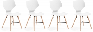 LF - Chaise Lot 4 chaises Withey blanc